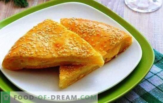 Tortilla de brânză pe chefir este un produs multinațional. Variante de prăjituri de brânză cu chefir: dovleac, ceapă