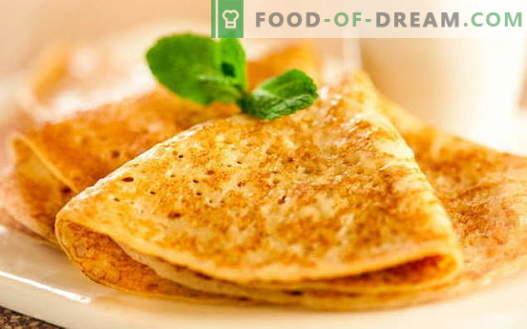 Palatschinken mit hefeerprobten Rezepten. Wie man richtig und lecker Pfannkuchen mit Hefe kocht.