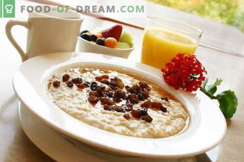 Porridge con latte - le migliori ricette. Come cucinare il porridge di latte.