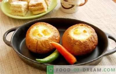 Ouă amestecate în pâine - dacă e simplu obosită! Rețete de ouă originale prajite în pâine cu brânză, cârnați, roșii