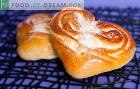 Prăjituri de inimă - aroma și gustul prăjiturilor de casă. Cele mai bune retete pentru role în formă de inimă cu zahăr, semințe de mac, scorțișoară și altele