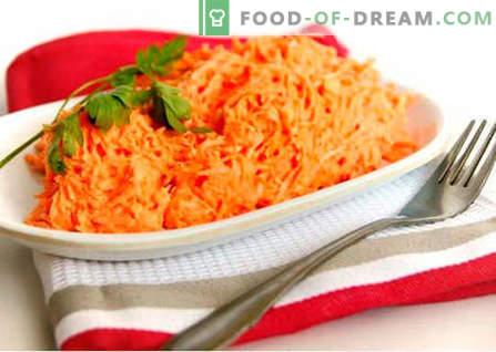 Salata brută de morcovi - cele mai bune rețete. Cum să gustați în mod corespunzător și să pregătiți salata de morcov brut.