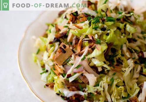 Salata de primăvară - o selecție a celor mai bune rețete. Cum să gătești în mod corect și gustos salată de primăvară.