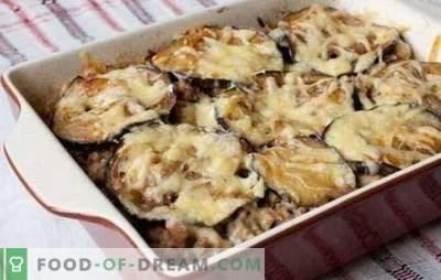 Carne tocată și vinete în cuptor - o cină minunată! Retete de caserole diferite de carne tocata si vinete in cuptor