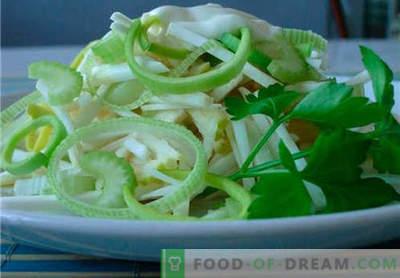 Salata de țelină și măr este cea mai bună rețetă. Cum să gătesc în mod corespunzător și gustos salată de telina cu un măr.