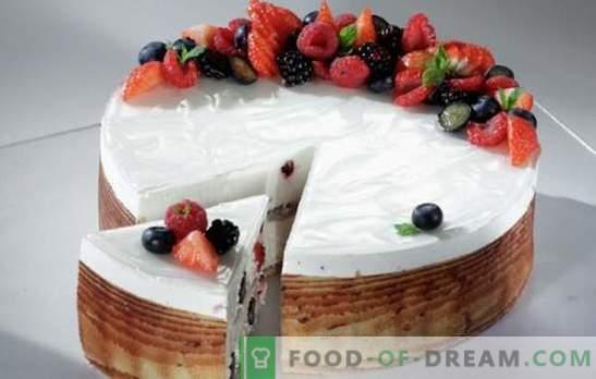 Tort de berry cu brânză, gelatină, cremă de proteine. Secretele delicioase de biscuiți și aluat de prăjituri de aluat