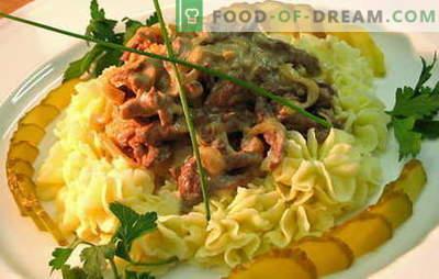 Stroganoff de carne de vită - cele mai bune rețete. Cum să gătești în mod corespunzător și gustos Stroganoff de carne de vită.