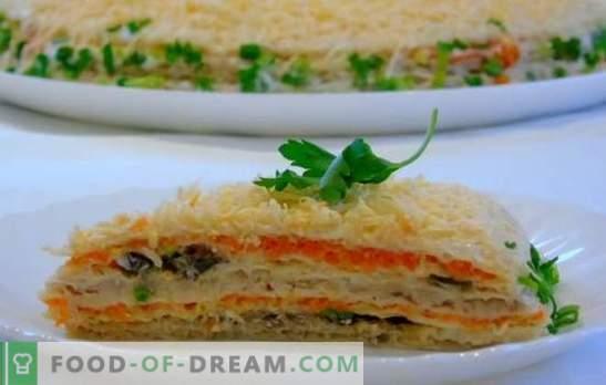 Prăjituri din biscuiți din făină și puf - rapid și într-un mod original! Rețete ușoare pentru prăjitura
