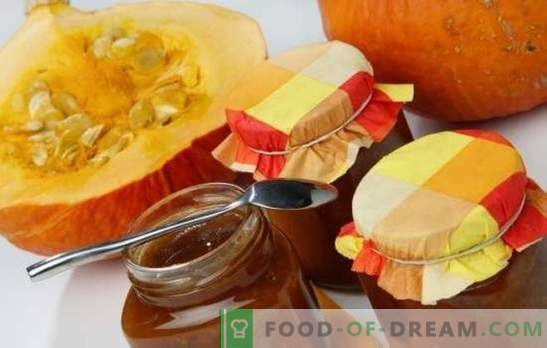 Gem de dovleac - o delicatesă luminată folositoare în rezervă! Rețete de jamă de dovleac de floarea-soarelui cu citrice, mere, nuci