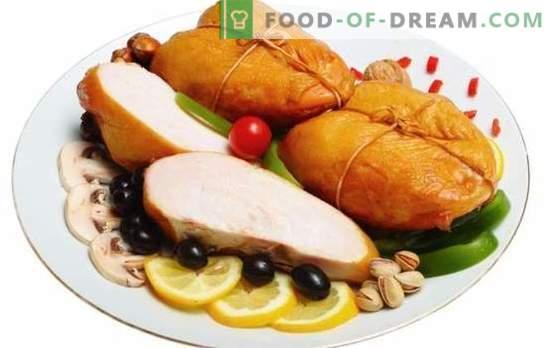 Piept afumat: Carne de dietă aromată. Cele mai bune retete pentru pieptul de afumat de casă. Ce puteți găti cu ea?