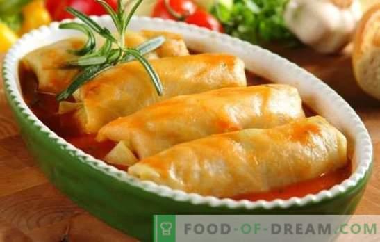 Il cavolo ripieno di cavolo fresco è una ricetta tradizionale passo-passo. Ricetta passo passo per cavolo vergine fresco: nel forno e nella pentola a cottura lenta