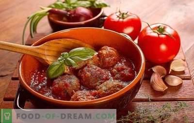 Arici în sos de roșii într-o tigaie, într-un cuptor, într-un aragaz lent. Retete de arici in sos de rosii cu orez, orz, cartofi, varza