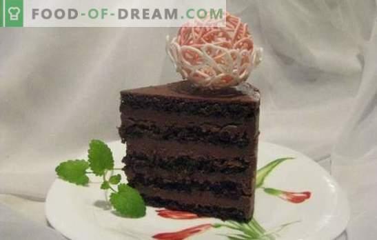 Tort de burete de ciocolată - un desert excepțional! Rețete pentru prăjituri delicate și întotdeauna delicioase de biscuiți din ciocolată