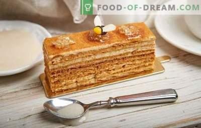 Cum să gătești cu ușurință o prăjitură de miere delicioasă cu lapte condensat. Rețete originale și originale pentru prăjituri de miere cu lapte condensat