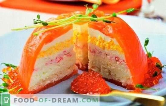 Tortul de crab este o alternativă la salata preferată. Gătit prăjituri crab originale și delicioase pentru masa de sărbători