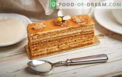 Tort cu miere: rețetă pas cu pas cu o fotografie a tortului tău preferat. Gătirea la domiciliu prin rețete pas cu pas cu fotografii ale unui delicios tort de miere clasic sau nuci
