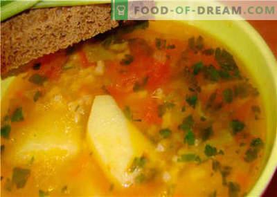 Supe fără carne - cele mai bune rețete. Cum de a supa cu gust si fara carne.