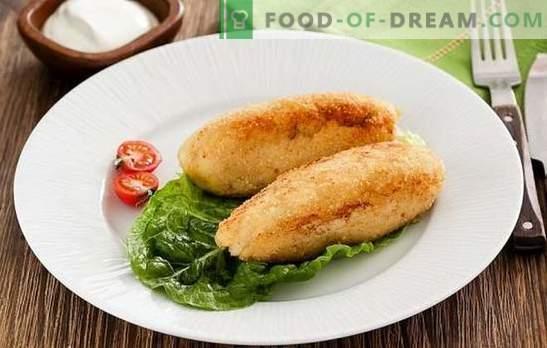 Pește zrazy - un fel de mâncare simplă, sănătoasă și gustoasă. Rețete de feluri de mâncare pește cu ciuperci, ouă, brânză, castraveți murate