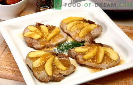 Carne cu mere - un ansamblu minunat! Rețete carne uimitoare cu mere în cuptor, în vase, într-o tavă