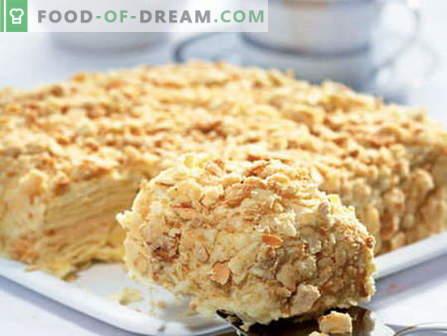 Prăjiturile cu lapte condensat sunt cele mai bune rețete. Cum să gatiți în mod corespunzător și gustos un tort cu lapte condensat.