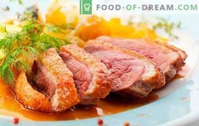 Sânii de rață: rețete pentru prăjit, coapte, jerky. Cele mai delicioase opțiuni pentru rețetele de piept de rață de bucătari din Franța, Italia și Rusia