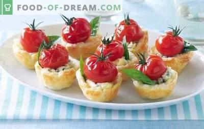Stuffs pentru tartlets pentru o gustare - delicios! Retete pentru tartle pentru brânză, pui, creveți, ciuperci