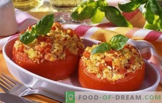 Pomodori al forno con formaggio al forno - delizioso e molto semplice. Dieci ricette di pomodori al forno con formaggio nel forno