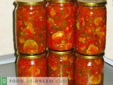 Castraveți în sos de roșii pentru iarnă