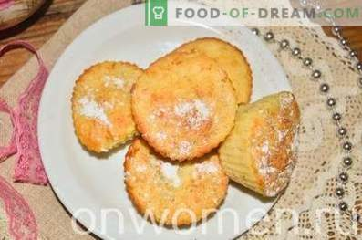 Cupcakes with apples and cinnamon