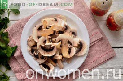 Ciorba de pui cu ciuperci