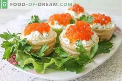 Tartule cu caviar