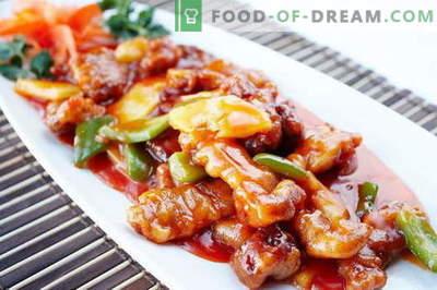 Carne dulce - cele mai bune rețete. Cum să gătești în mod corespunzător și gustos carnea dulce.