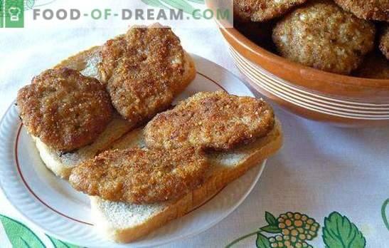 Bucățele ca în sala de mese - sunt obținute acasă! Culețe în cantina sovietică cu gris, pâine, cartofi și orez
