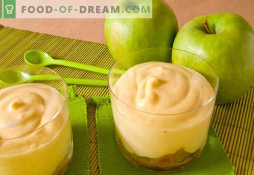 Mousse Apple - cele mai bune rețete. Cum de a gusta corect și gustos mousse de mere.